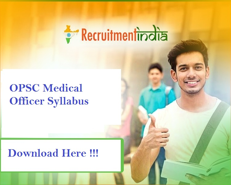 OPSC Medical Officer Syllabus 2019