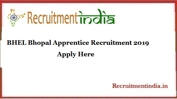 BHEL Bhopal Apprentice Recruitment