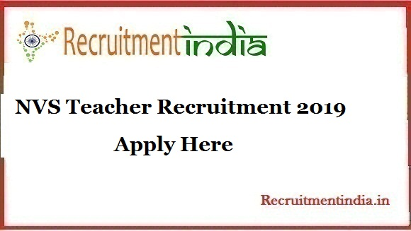 NVS Teacher Recruitment