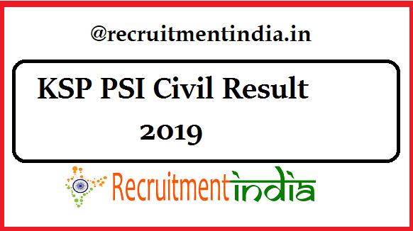 KSP PSI Civil Result
