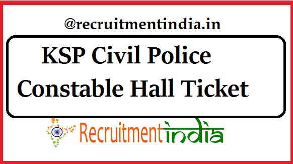 KSP Hall Ticket