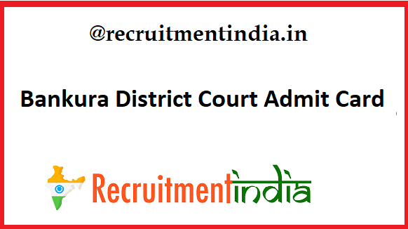 Bankura District Court Admit Card