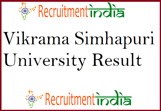 Vikrama Simhapuri University Result 2019 [Released] Degree Sem Marks