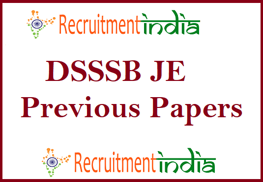 DSSSB JE Previous Papers