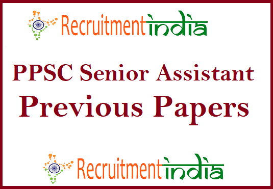 PPSC Senior Assistant Previous Papers