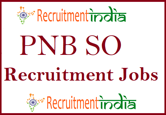 PNB Specialist Officer Recruitment