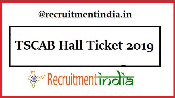 TSCAB Hall Ticket