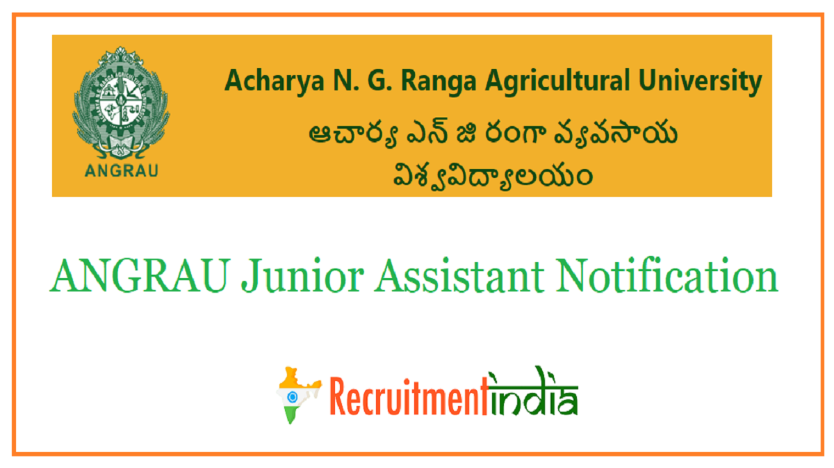 ANGRAU Junior Assistant Notification