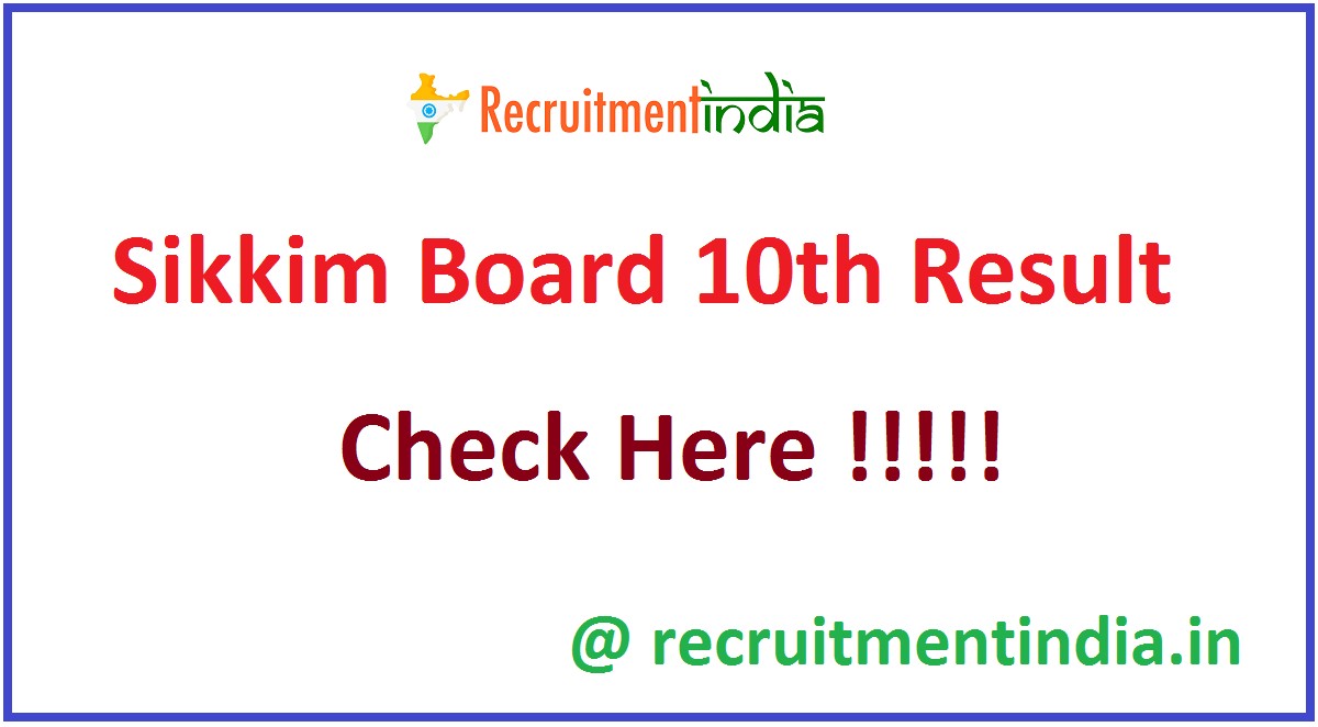 Sikkim Board 10th Result