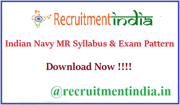 Indian Navy MR Syllabus