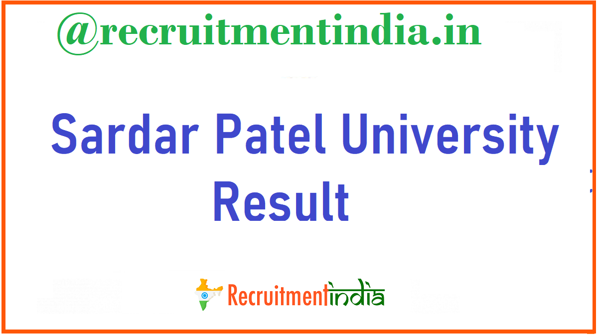 Sardar Patel University Result