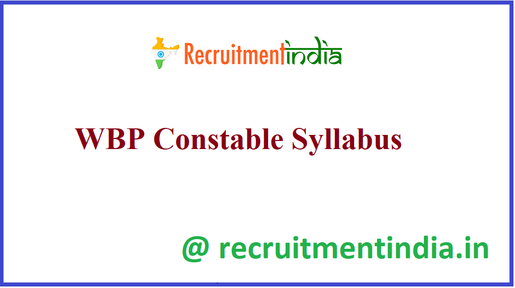 WBP Constable Syllabus