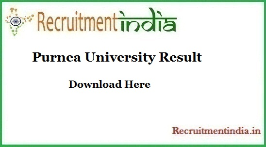 Purnea University Result