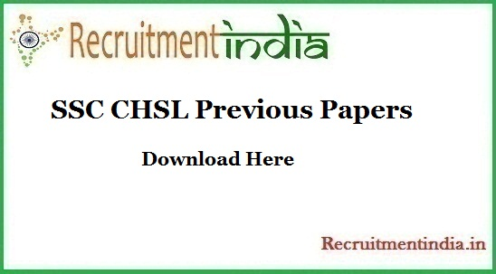 SSC CHSL Previous Papers