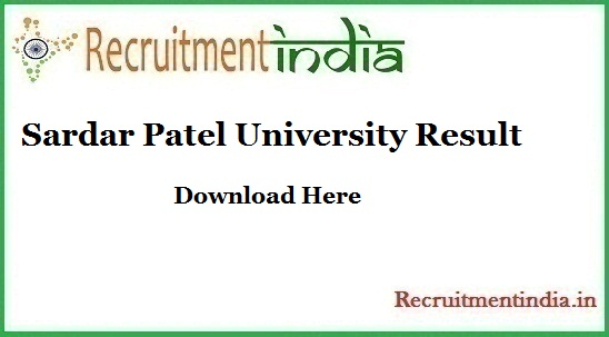 Sardar Patel University Result
