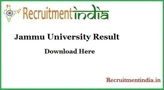 Jammu University Result