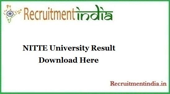NITTE University Result