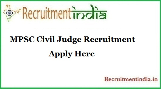 MPSC Civil Judge Recruitment