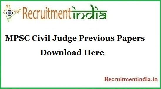 MPSC Civil Judge Previous Papers