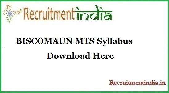 BISCOMAUN MTS Syllabus