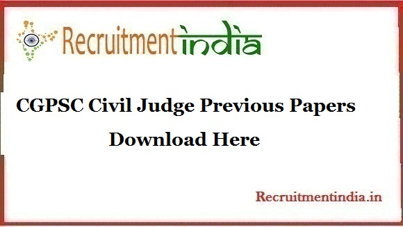 CGPSC Civil Judge Previous Papers