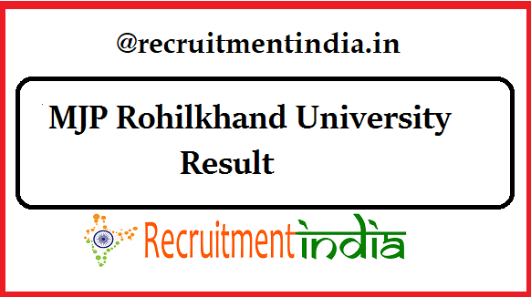 MJP Rohilkhand University Result