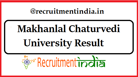 Makhanlal Chaturvedi University Result