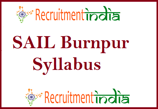 SAIL Burnpur Syllabus
