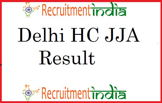 Delhi HC JJA Result