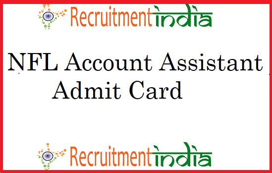 NFL Accounts Assistant Admit Card