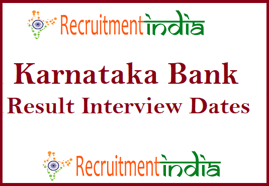 Karnataka Bank PO Result