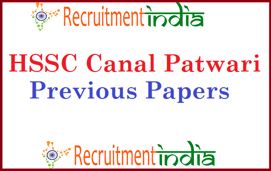 HSSC Canal Patwari Previous Papers