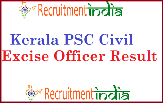 Kerala PSC Civil Excise Officer Result