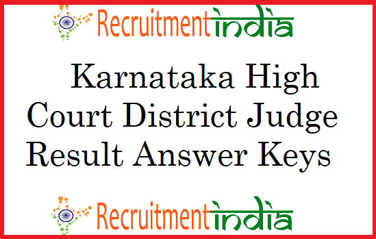 Karnataka High Court District Judge Result
