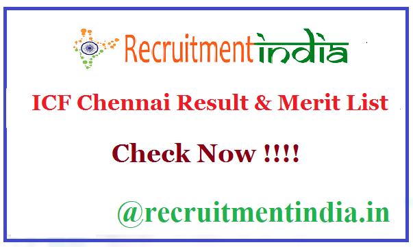 ICF Chennai Result