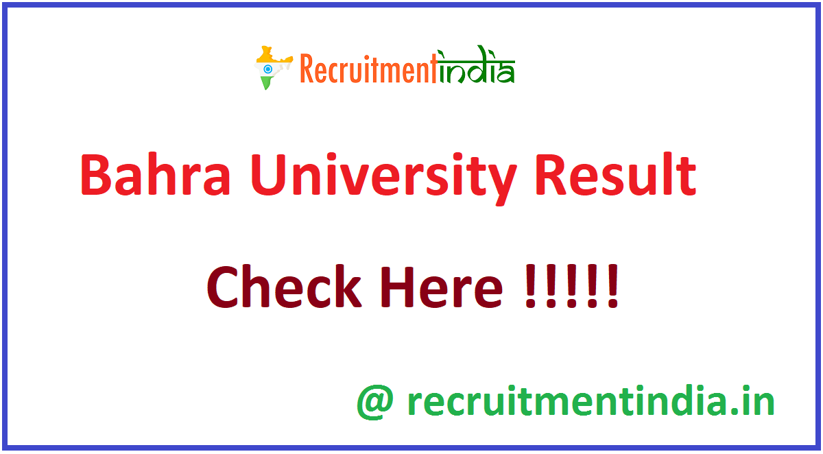 Bahra University Result