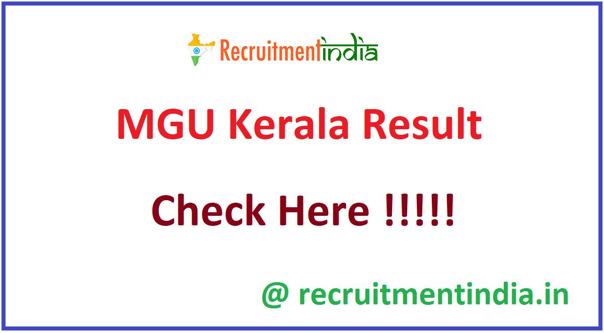 MGU Kerala Result