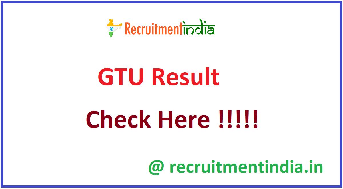 GTU Result