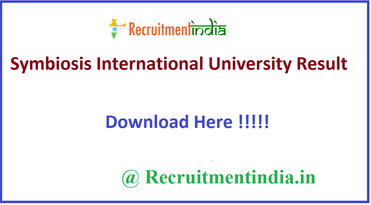 Symbiosis International University Result