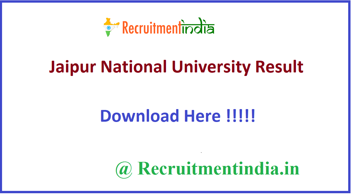 Jaipur National University Result
