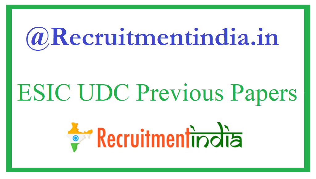 ESIC UDC Previous Papers