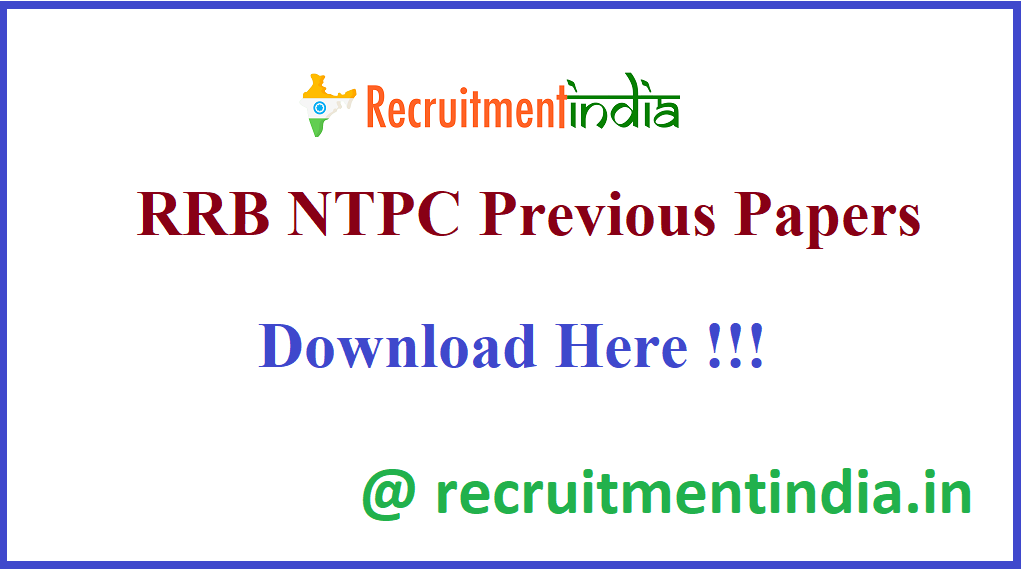 RRB NTPC Previous Papers