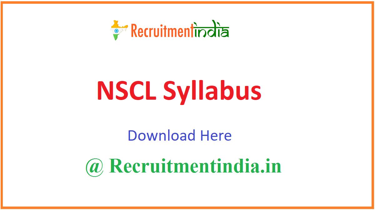 NSCL Syllabus