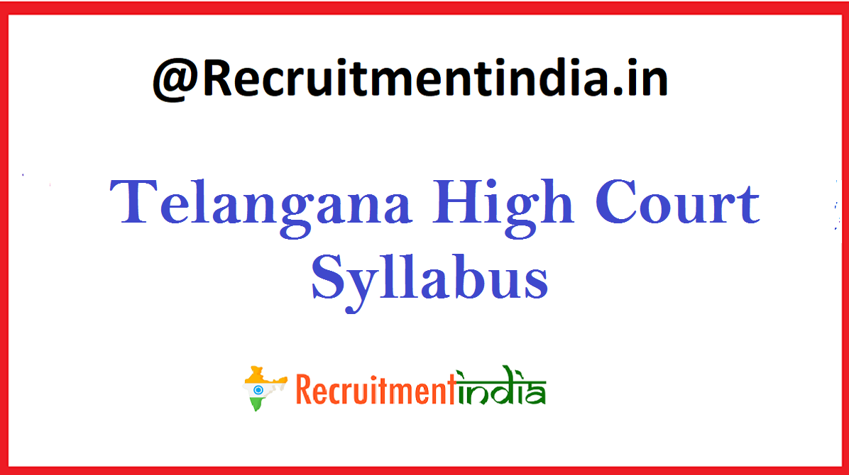 Telangana High Court Syllabus