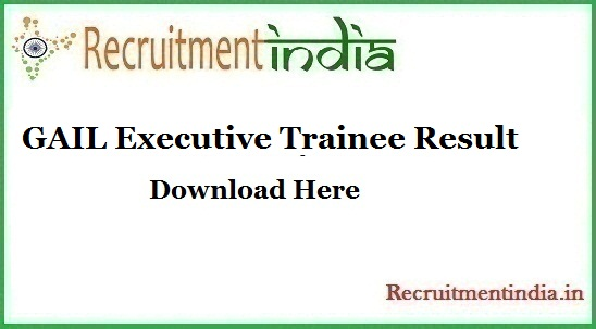 GAIL Executive Trainee Result