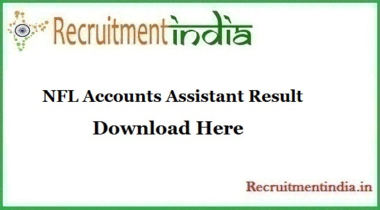 NFL Accounts Assistant Result