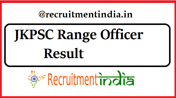 JKPSC Range Officer Result