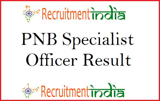 PNB Specialist Officer Result