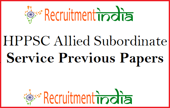 HPPSC Allied Subordinate Service Previous Papers