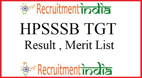 HPSSSB TGT Result